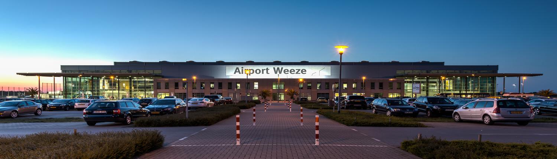 Aanzicht op Weeze airport
